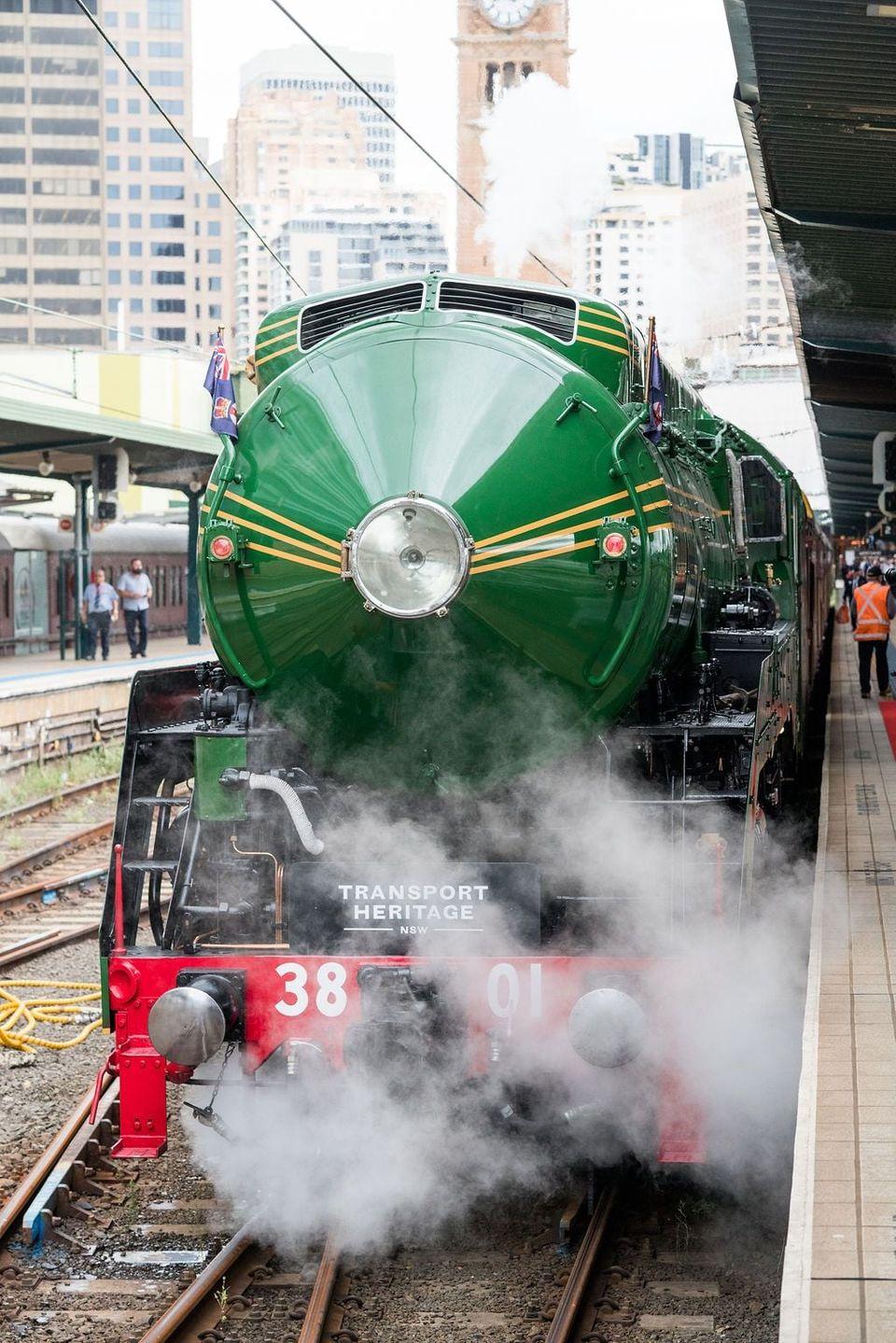 3801 train waiting at the station